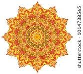 elegant vector round colorful... | Shutterstock .eps vector #1014738565