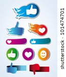 set of vector like stickers... | Shutterstock .eps vector #101474701