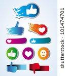 set of vector like stickers... | Shutterstock .eps vector #101474701