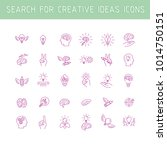 line icons collection of human... | Shutterstock .eps vector #1014750151