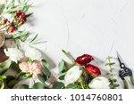 floral bouquet preparation | Shutterstock . vector #1014760801