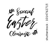 special easter clearance card... | Shutterstock .eps vector #1014762715