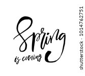 spring is coming   hand drawn... | Shutterstock .eps vector #1014762751