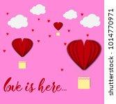 paper heart for valentantine's... | Shutterstock . vector #1014770971