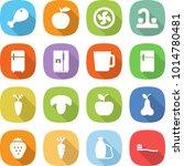flat vector icon set   chicken... | Shutterstock .eps vector #1014780481