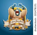 vector mexican wrestler banner 2 | Shutterstock .eps vector #101478151