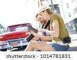 couple of photographers... | Shutterstock . vector #1014781831