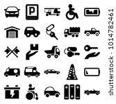 car icons. set of 25 editable...   Shutterstock .eps vector #1014782461