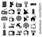 antenna icons. set of 25... | Shutterstock .eps vector #1014782479