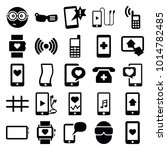smart icons. set of 25 editable ... | Shutterstock .eps vector #1014782485