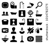 bathroom icons. set of 25... | Shutterstock .eps vector #1014782575