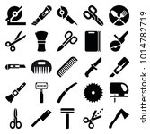 cut icons. set of 25 editable... | Shutterstock .eps vector #1014782719