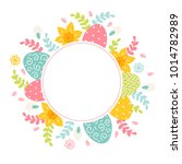 easter greeting card with...   Shutterstock .eps vector #1014782989