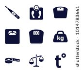 scale icons. set of 9 editable... | Shutterstock .eps vector #1014783661