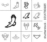 flying icons. set of 13... | Shutterstock .eps vector #1014783685