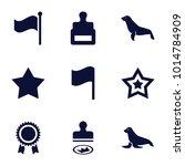 seal icons. set of 9 editable...
