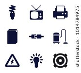 electrical icons. set of 9... | Shutterstock .eps vector #1014784975