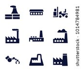 factory icons. set of 9... | Shutterstock .eps vector #1014784981