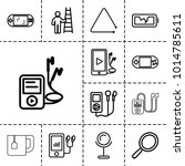 portable icons set of 13