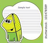 cartoon monster with message... | Shutterstock .eps vector #101478589