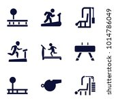 trainer icons. set of 9... | Shutterstock .eps vector #1014786049