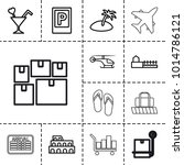 tourism icons. set of 13... | Shutterstock .eps vector #1014786121