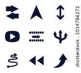 next icons. set of 9 editable...