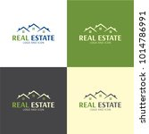three houses roofs real estate... | Shutterstock .eps vector #1014786991