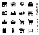 origami style icon set   store... | Shutterstock .eps vector #1014787051