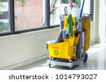 cleaning cart with... | Shutterstock . vector #1014793027
