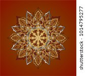 a rose window inspired by a... | Shutterstock .eps vector #1014795277