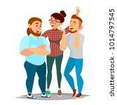 friends taking photo vector.... | Shutterstock .eps vector #1014797545