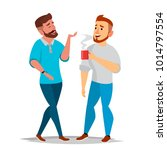 talking men vector. laughing... | Shutterstock .eps vector #1014797554