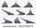 set of nine vector roads wit... | Shutterstock .eps vector #1014798979