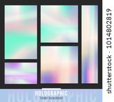 holographic banners background. ... | Shutterstock .eps vector #1014802819