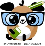 illustration of funny puppy dog ... | Shutterstock .eps vector #1014803305