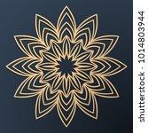 laser cutting mandala. golden...   Shutterstock .eps vector #1014803944