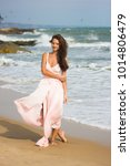 a beautiful girl in a luxurious ... | Shutterstock . vector #1014806479
