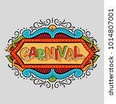 popular event brazil carnival... | Shutterstock .eps vector #1014807001