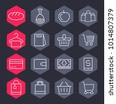 hypermarket and trade vector... | Shutterstock .eps vector #1014807379