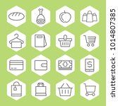 hypermarket and trade vector... | Shutterstock .eps vector #1014807385
