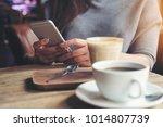 closeup image of a woman... | Shutterstock . vector #1014807739
