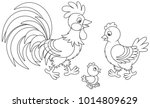 funny family of a rooster  a... | Shutterstock .eps vector #1014809629