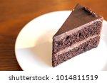 a piece of chocolate cake... | Shutterstock . vector #1014811519
