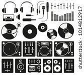 vector music icon set on white...   Shutterstock .eps vector #1014812917