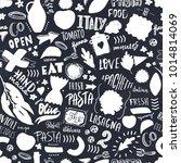 italian pasta seamless pattern... | Shutterstock .eps vector #1014814069