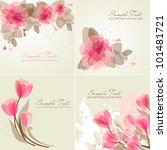set of 4 romantic flower... | Shutterstock .eps vector #101481721