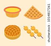 hong kong native food   egg...   Shutterstock .eps vector #1014817261