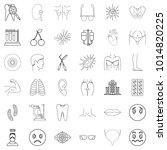medical officer icons set.... | Shutterstock .eps vector #1014820225