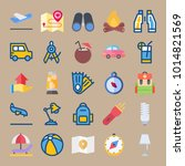 icons beach and camping with... | Shutterstock .eps vector #1014821569